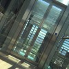 Glass lift doors