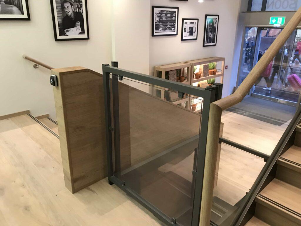 low rise platform lift installed at Vapiano Glasgow