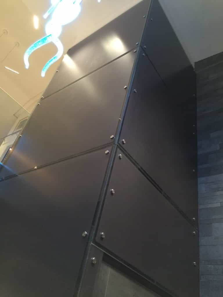 Bespoke glass lift with opalux vinyl 5