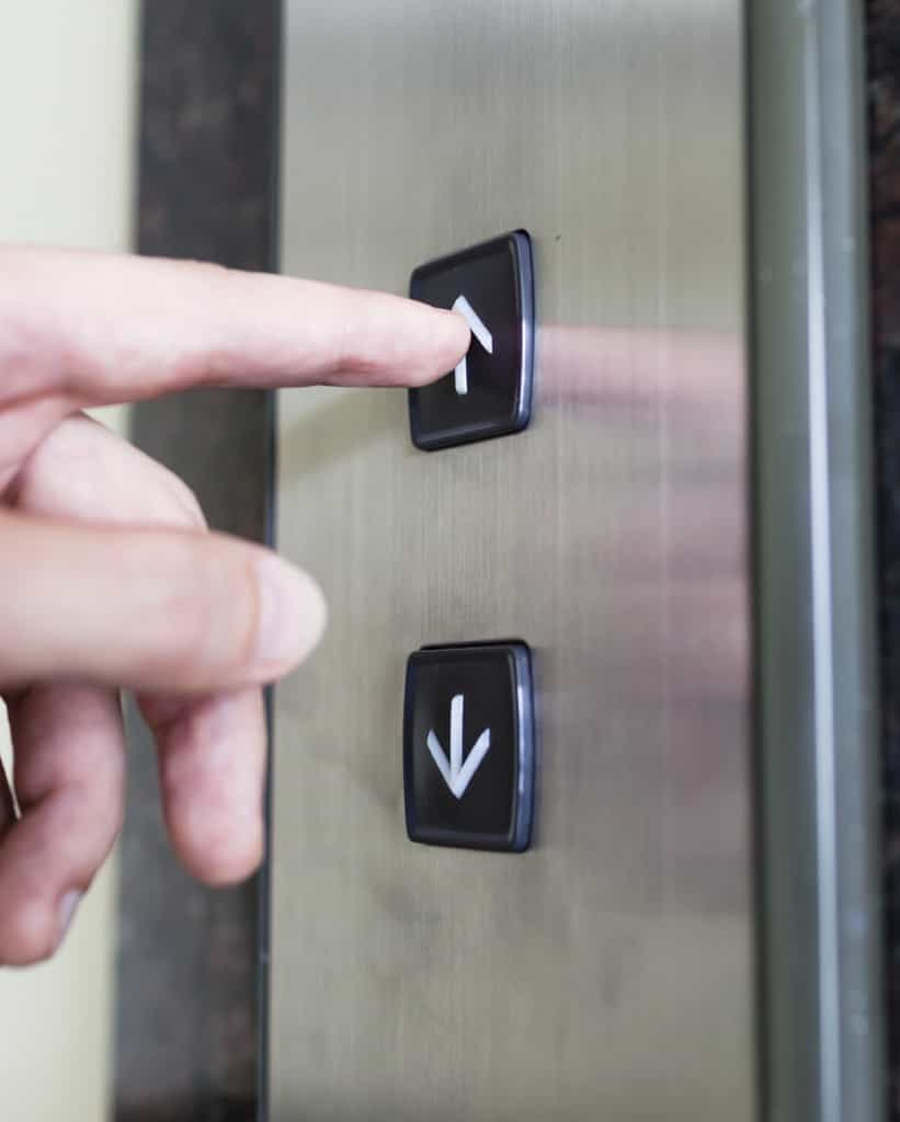 pressing lift button iStock 000056226162 Medium 821x1024 - How the Lift Came to Be