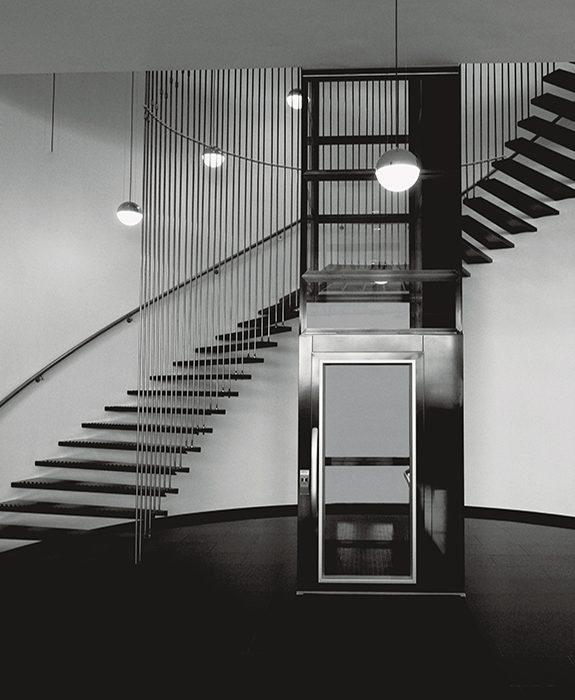 platform lift a5000 spectacular staircase 575x700 - Qube 4 Platform Lift