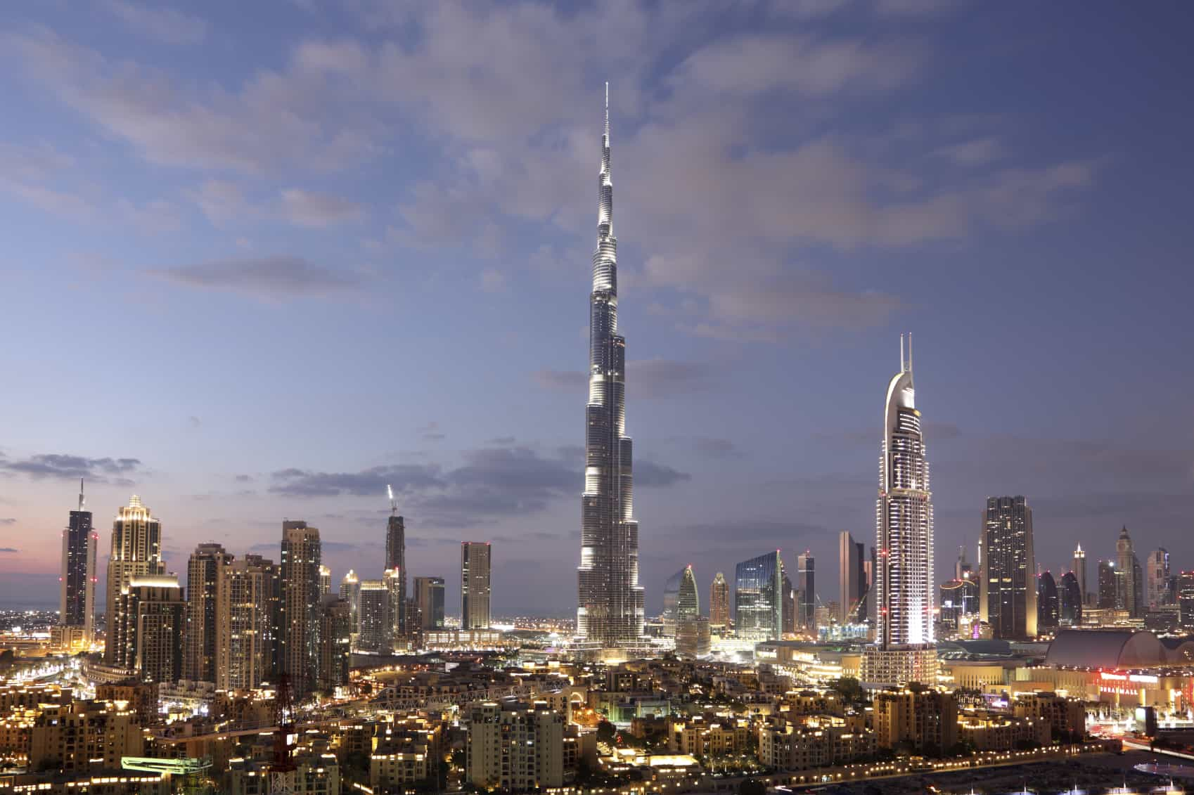 Dubai Downtown at dusk iStock 000033457026 Medium - The Impact of Elevators on Structural Design and Architecture