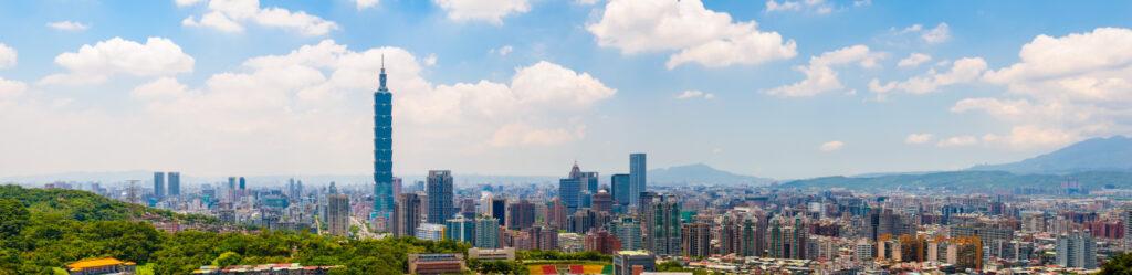 Skyline of Taipei city iStock 000044653304 Small 1024x249 - THE WORLD'S FASTEST ELEVATOR