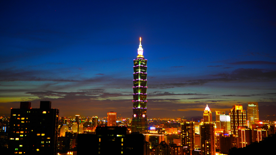 Taiwan Taipei 101 at night iStock 000082368233 Small - The World's Fastest Elevator