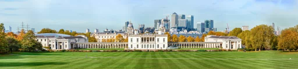 Greenwich park and Canary Wharf on background in London iStock 000085999813 Small 1024x238 - The Best View in London