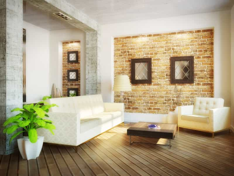 living room with brick wall iStock 000014867659 Small - What Makes a Dream Home?