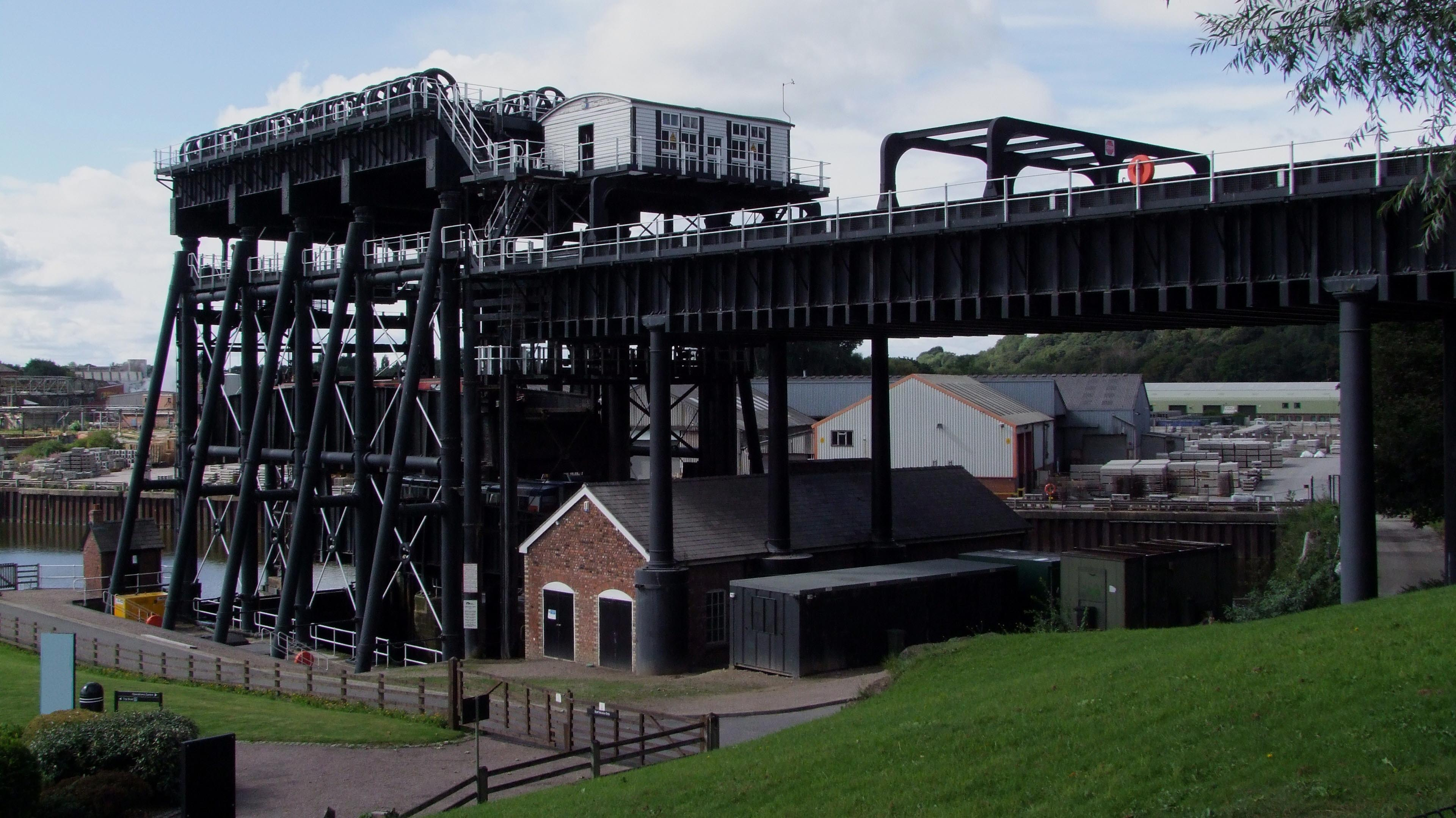 Anderton Boat Lift on the Trent & Mersey Canal, UK