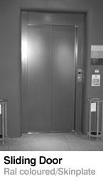 Sliding door RAL skinplate - Lift Doors