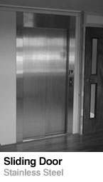 Sliding door stainless steel - Lift Doors
