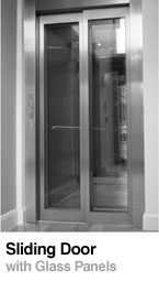 Sliding door with glass - Lift Doors