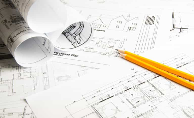 Architectural blueprints and blueprint rolls iStock 000055999416 Small 768x470 - Top 5 Considerations to Make When Installing a Home Lift