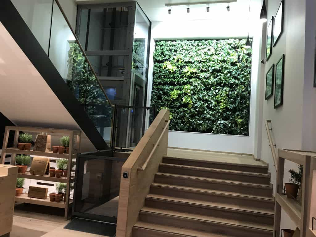 glass passenger lift installed at Vapiano Glasgow