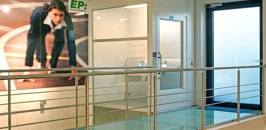 Access Products - Pitless passenger lift, installed at Oscars Burnley