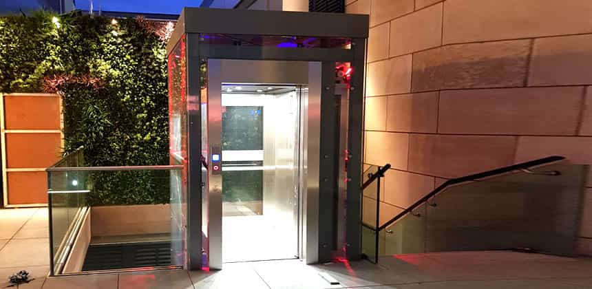 Commercial Lifts - Stepping into a Step Lift