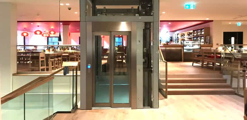 Passenger Lifts New - Pitless passenger lift, installed at Oscars Burnley