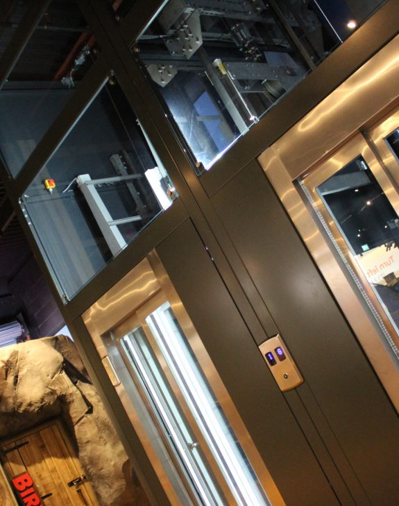 Photo 19 11 2019 12 27 55 575x730 - Twin passenger lifts installed at the new Angry Birds Adventure Golf Centre