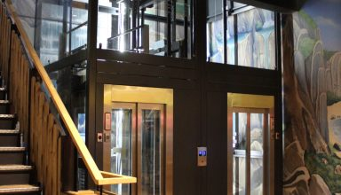 Photo 19 11 2019 12 30 27 384x220 - Twin passenger lifts installed at the new Angry Birds Adventure Golf Centre