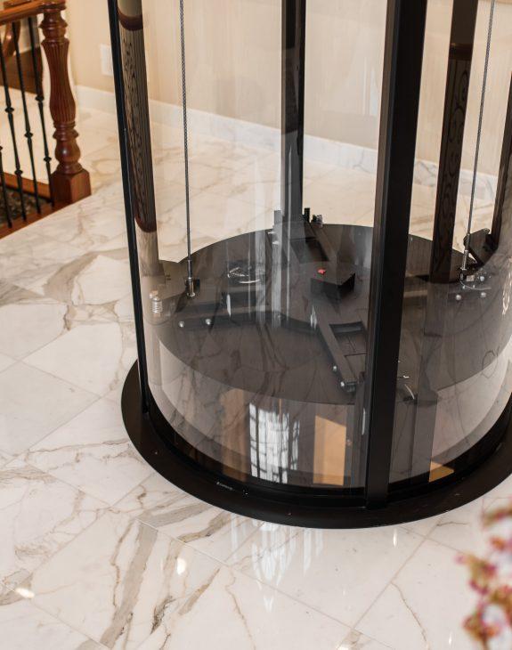 2018 Vuelift R MortonGrove H 2ndFloor Cab thru Floor1 575x730 - Round/Circular Lift