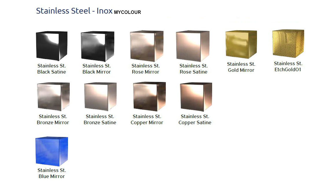 Inox Color materials - Focus LPH (Low Pit / Low Headroom)