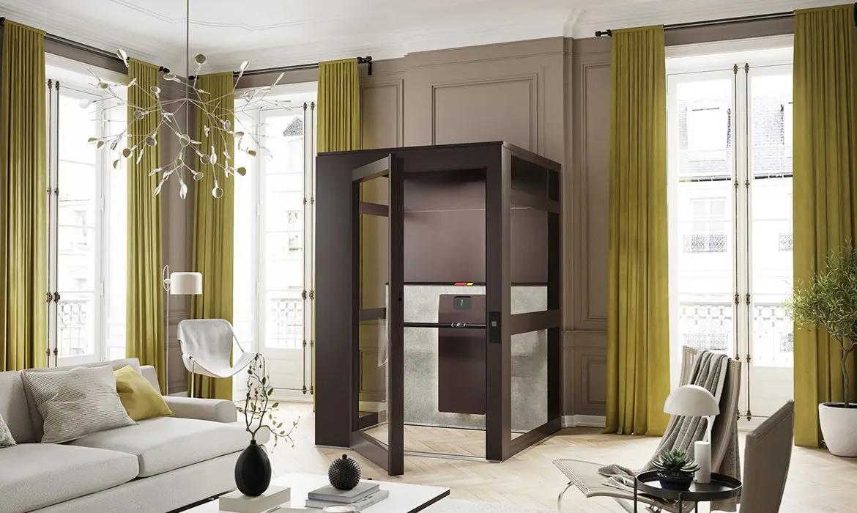 home lift cibes air in french apartment 1600x700 1 1170x700 1280w - Qube Air